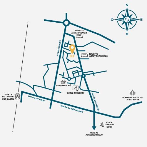 plan localisation Balmont